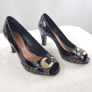 ANTONIO MELANI Patent leather leopard heels 7.5M